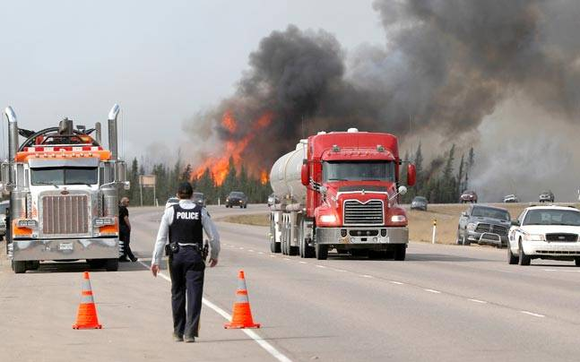 Wildfires near Fort McMurray