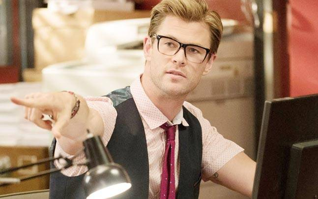 Chris Hemsworth in a still from Ghostbusters