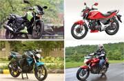 Top 5 bikes in the 150cc segment