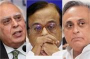 Congress nominates Chidambaram, Sibal, Jairam for Rajya Sabha