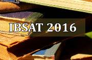 IBSAT 2016: Paper pattern and tentative exam dates