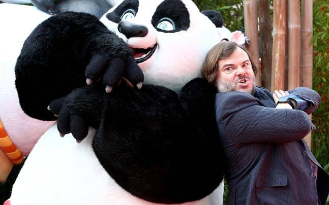 Jack Black at Kung Fu Panda premiere