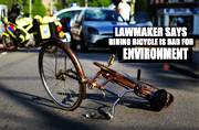 Holy carbon dioxide! When a US lawmaker said riding bicycles is bad for the environment
