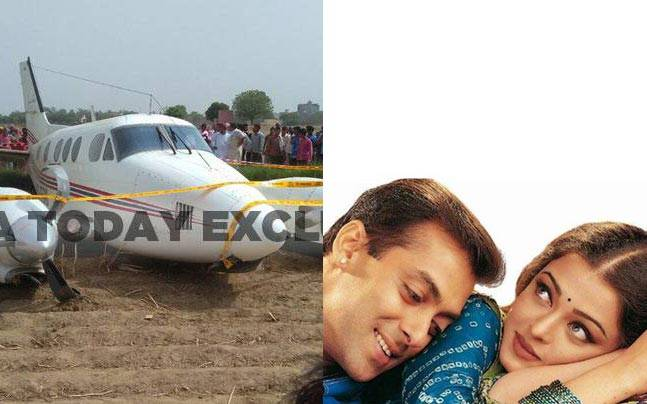 (From left) Najafgarh crash landing, Aishwarya and Salman