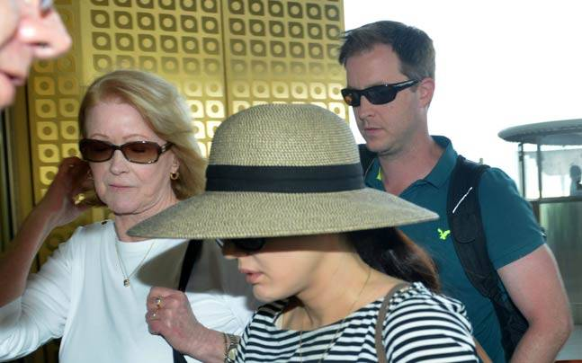 Preity Zinta, along with husband Gene Goodenough and her mother-in-law