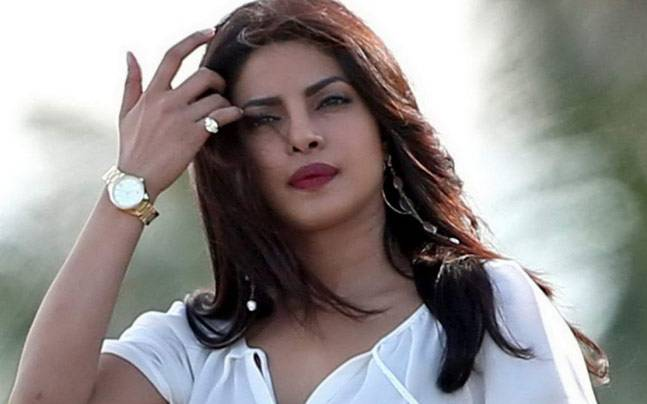 Priyanka Chopra on the sets of Baywatch