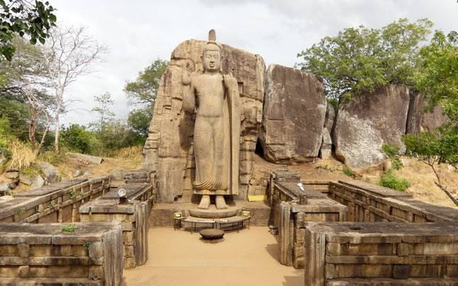 The Avukana Buddha Statue in Sri Lanka. Picture courtesy: Wikimedia/Carlos Delgado/Creative Commons