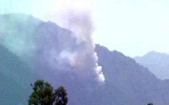 Forest fires spread towards Vaishno Devi (Photo: ANI)