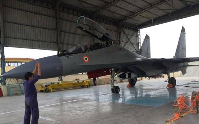 BrahMos weapon on the long-range Sukhoi-30 fighter