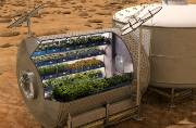 Illustration of farming on Mars