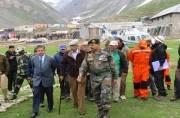 Governor NN Vohra reviews this year's Amaranath Yatra arrangements at Sheshnag, Panjtarni and Baltal