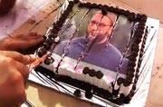 Raj Thackeray cuts Asaduddin Owaisi into pieces of cake