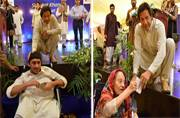 Stage and ramp-age: Imran Khan red-faced as Pak event honouring disabled has no ramp