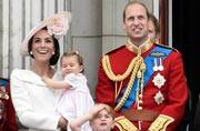 Here's what Princess Charlotte's first appearance on the Buckingham Palace balcony looked like