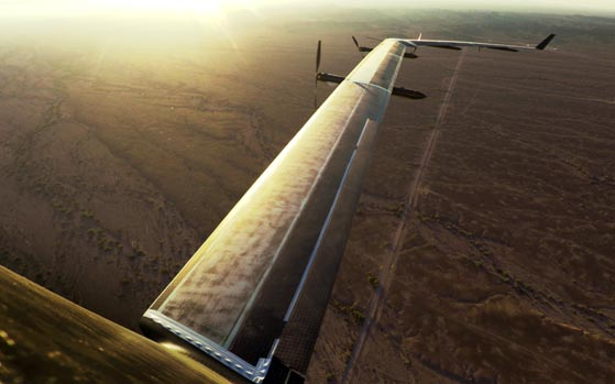 Facebook's solar-powered internet drone takes flight
