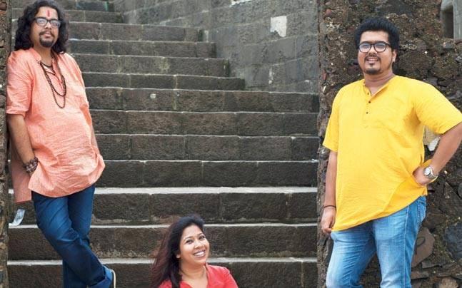 Randeep Bhaskar, Pooja Shankar and Rahul Mukherjee of Antarman. Photo: Mail Today