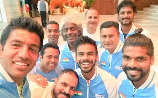 Indian Davis Cup team selfie