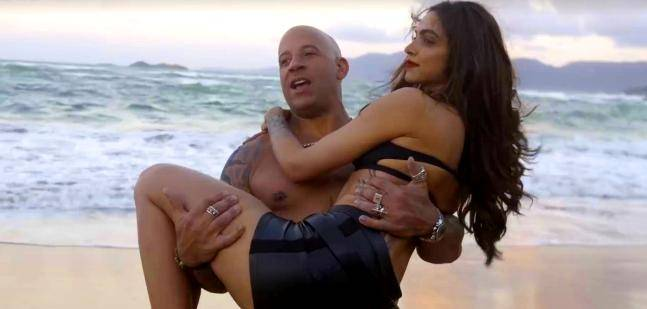 Deepika Padukone and Vin Diesel on the sets of xXx: Return of Xander Cage