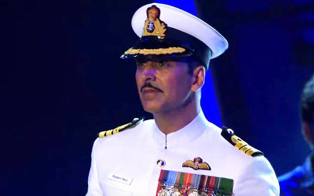 Akshay Kumar in and as Rustom.