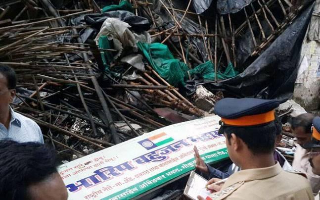 Demolished Ambedkar Bhavan in Dadar area of Mumbai.