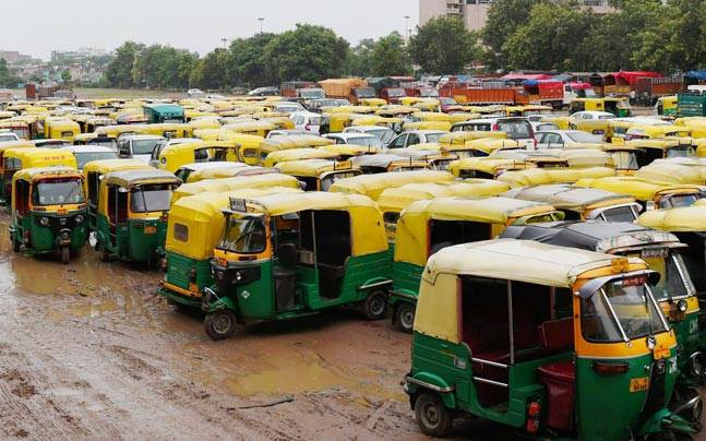 Delhi's Auto, Taxi Unions On Strike against app-based cab services