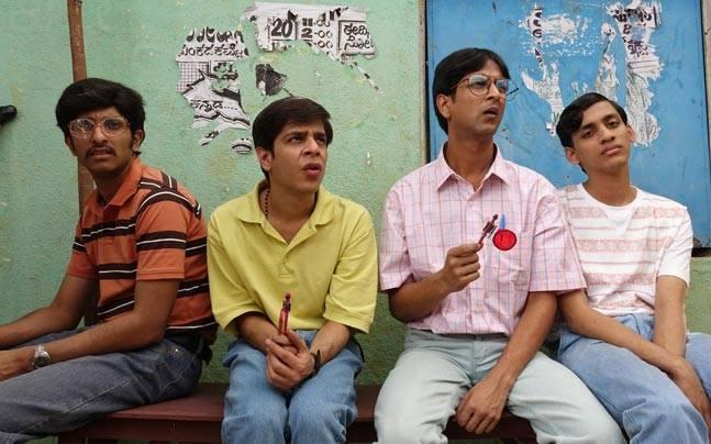 Left to Right: Chaitanya Bharad, Shashank Arora,Tanmay Dhanania and Vaishwath Shankar in a still from Brahman Naman