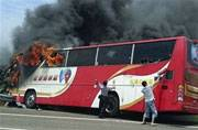 26 dead as bus with Chinese tourists catches fire in Taiwan