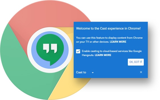 Google's Chrome browser gets inbuilt Cast toolbar