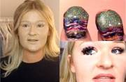 The different beauty product mountains. Pictures courtesy: YouTube/Jeely; YouTube/Simply Nailogical