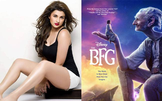 Left: Parineeti Chopra, Right: A poster of The BFG