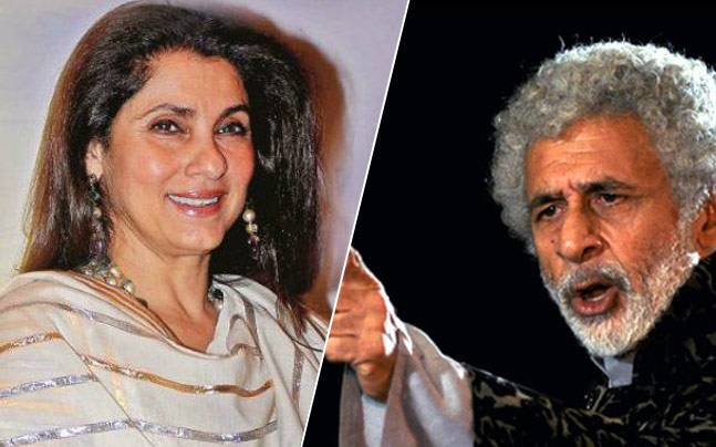 Dimple Kapadia and Naseeruddin Shah