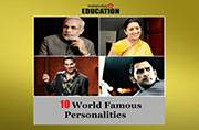 10 world famous personalities: Then and now