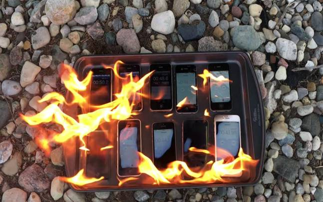iPhone Burn Test