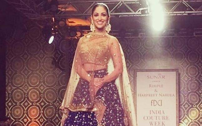 Yami Gautam walked the ramp for Rimple and Harpreet Narula. Picture courtesy: Instagram/ rimple_harpreet_narula