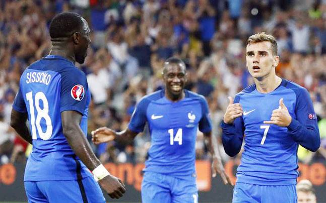 A file image of France players from Euro 2016. (Reuters Photo)