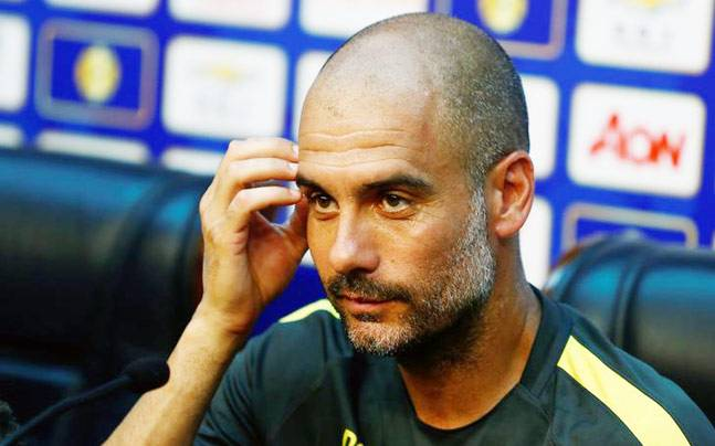 A file image of Manchester City manager Pep Guardiola. (Reuters Photo)