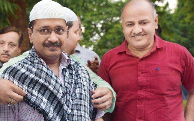 CM Arvind Kejriwal along with his deputy Manish Sisodia
