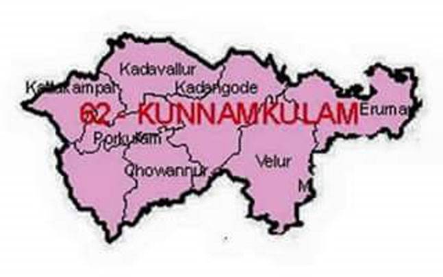 Prasanth Nair today posted the photo of a map of Kunnamkulam.