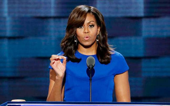 Michelle Obama at the Democratic National Convention 2016.