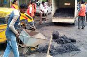 BMC officials on the ground after their Boss gives 48 hours ultimatum to fill potholes