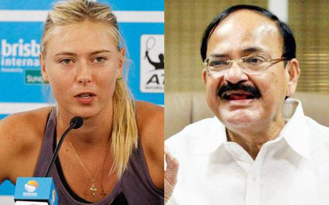 Maria Sharapova and Venkaiah Naidu