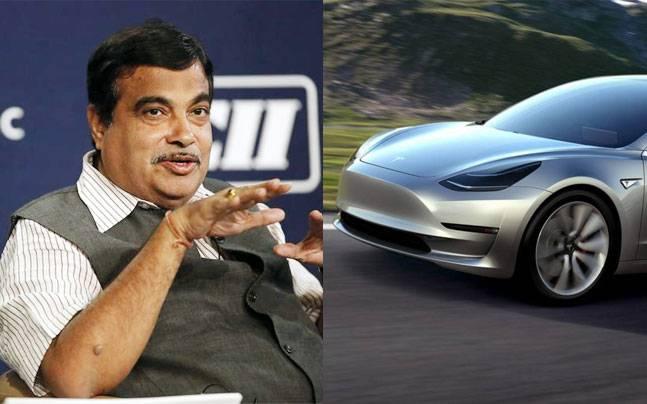 Nitin Gadkari visits Tesla Motors facility in US
