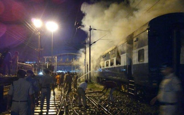 All passengers had come out of train before these two bogies were torched.