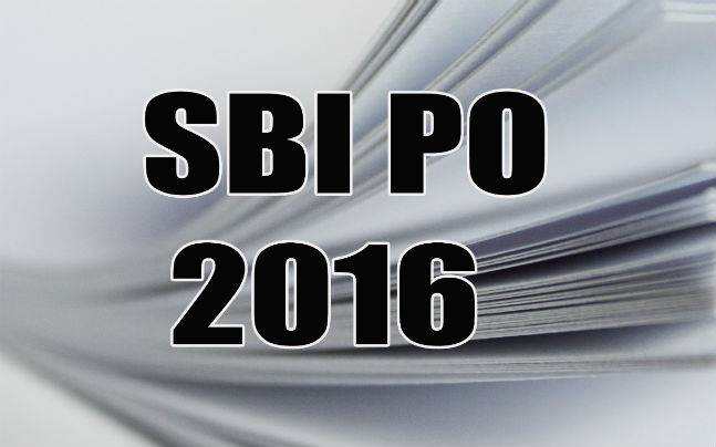 SBI PO Main Exam 2016
