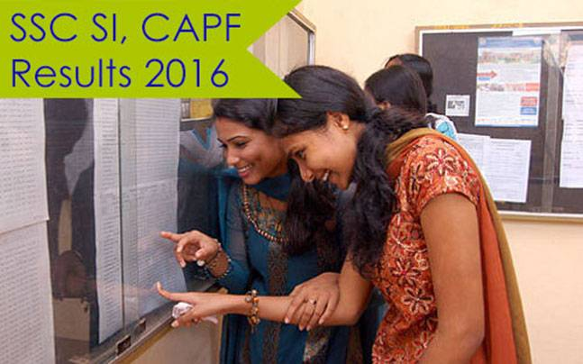 SSC SI, CAPF Results 2016