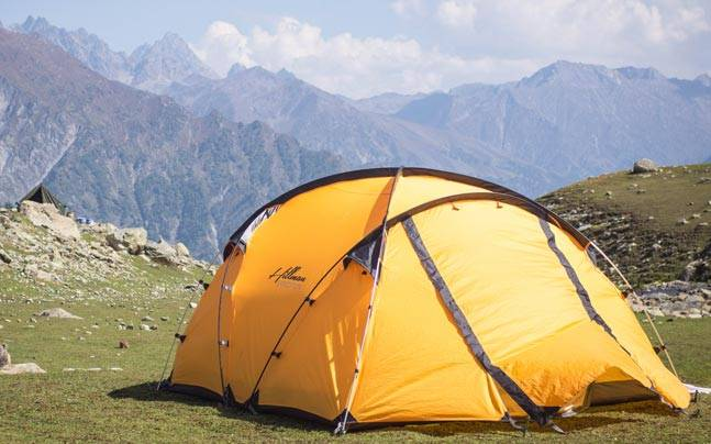 A campsite on the Kashmir Great Lakes trek. Picture courtesy: Flickr/Baasir Gaisawat/Creative Commons