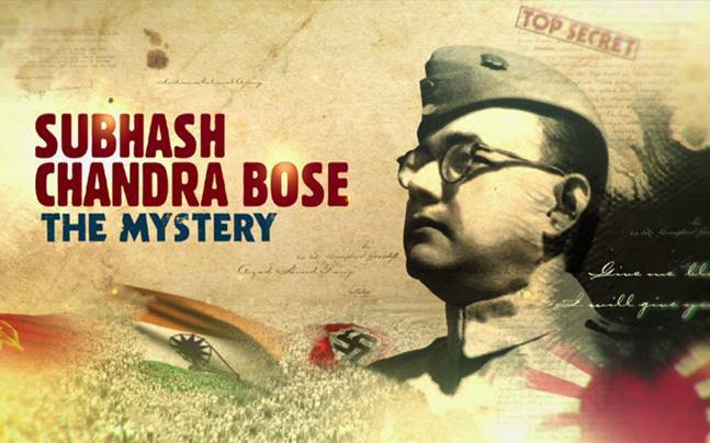 A promotional poster of Subhash Chandra Bose: The Mystery