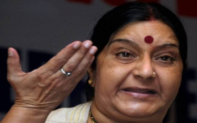 Oops! Sushma Swaraj pays homage to Mahasweta Devi, but