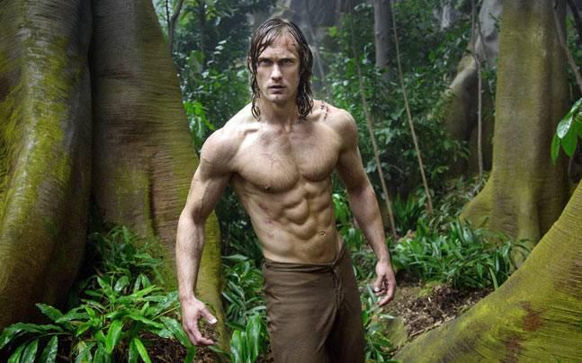 Alexander Skarsgard has a deliberately-understated presence as Tarzan