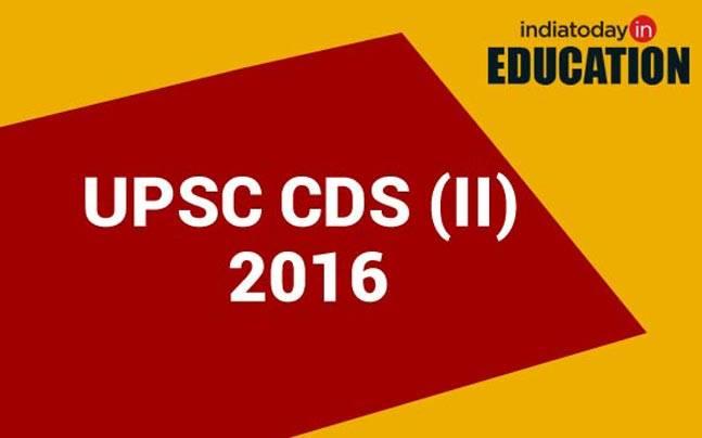 UPSC CDS II 2016